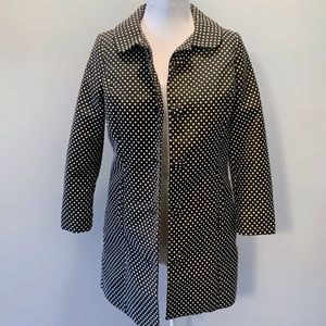 LC Lauren Conrad Black Polka Dot Button Coat - 6
